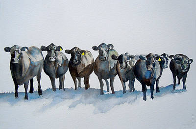 Personalities Painting - The Angus Eight by Sharon Mick