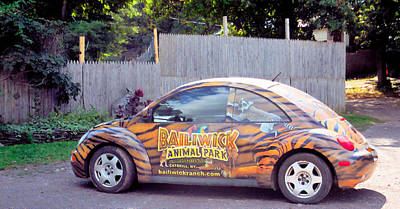 Local Attraction Painting - The Animal Parks New Theme Car 1 by Lanjee Chee