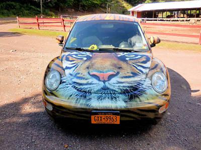 Local Attraction Painting - The Animal Parks New Theme Car 2 by Lanjee Chee