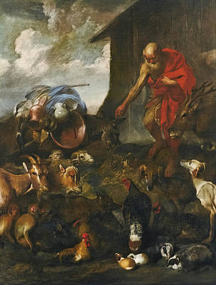 Painting - The Animals Entering Noah's Ark by Giovanni Benedetto Castiglione