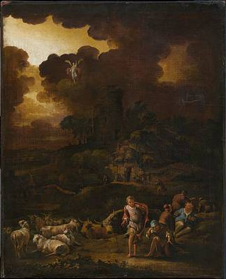 Dutch Shepherd Painting - The Announcement To The Shepherds by Adam Colonia