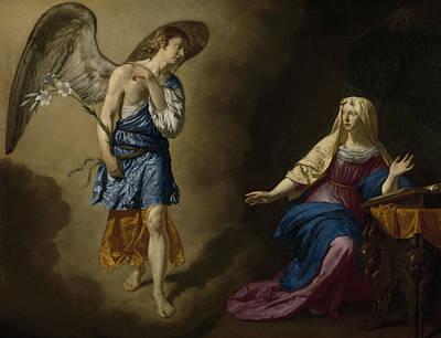 The Annunciation Print by Adriaen van de Velde