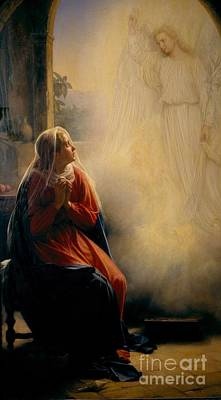 Carl Bloch Painting - The Annunciation by Celestial Images