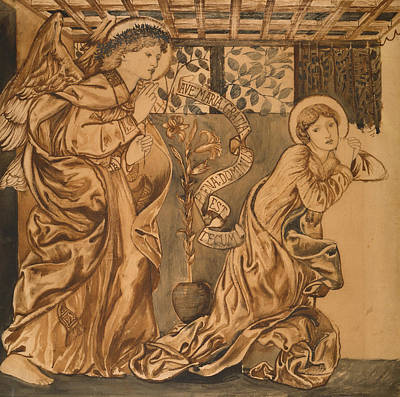 Christianity Drawing - The Annunciation by Edward Burne-Jones