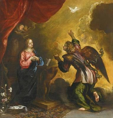 The Annunciation Print by Francisco Camilo