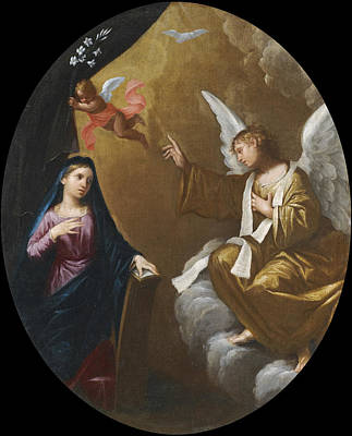 Painting - The Annunciation by Lorenzo Pasinelli