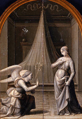 Mariotto Albertinelli Painting - The Annunciation by Mariotto Albertinelli