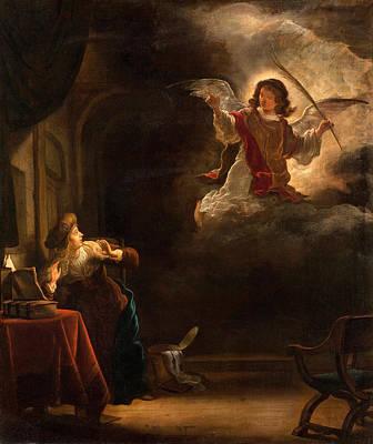 Salomon Koninck Painting - The Annunciation by Salomon Koninck