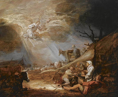 Painting - The Annunciation To The Shepherds by Benjamin Gerritsz Cuyp