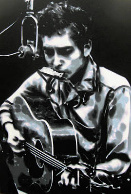 Singer Songwriter Painting - The Answer My Friend Is Blowin In The Wind by Luis Ludzska