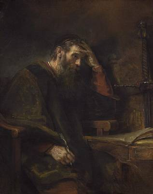 Worship God Painting - The Apostle Paul by Rembrandt Van Rijn