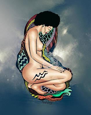 The Aquarius Woman Print by Kenal Louis