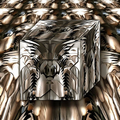 Mixed Media - The Arcana Cube by Mario Carini
