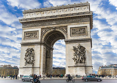 Arches Memorial Photograph - The Arch Of Triumph - Paris by Nila Newsom