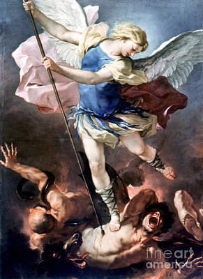 New Testament Painting - The Archangel Michael by Granger