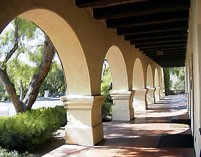 Mission Photograph - The Arches Mission Santa Ines by Kurt Van Wagner