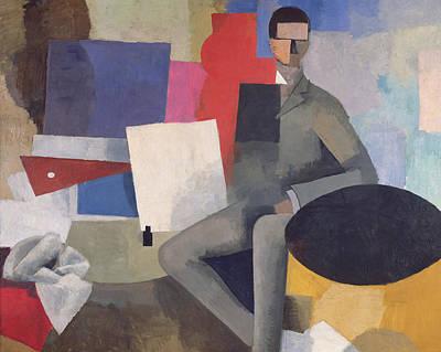 Color Block Painting - The Architect by Roger de La Fresnaye