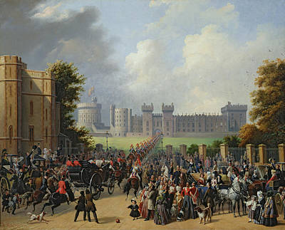 The Arrival Of Louis-philippe Print by Edouard Pingret