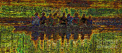 Women Together Digital Art - The Art Of Rowing by David Lee Thompson