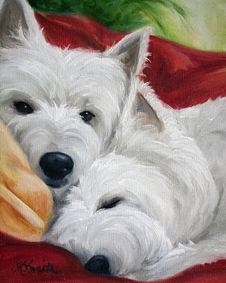 Portrait Painting - The Art Of Snuggling by Mary Sparrow