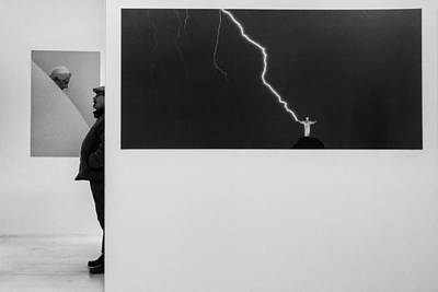 Thunder Photograph - The Art Visitor by Luis Sarmento