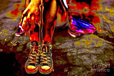 Sneakers Digital Art - The Artist Tote Bag by John Rizzuto