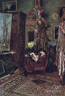 Hennessy Painting - The Artists Studio by William John Hennessy