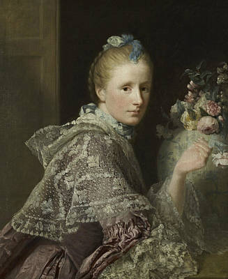The Artist's Wife- Margaret Lindsay Of Evelick Print by Allan Ramsay