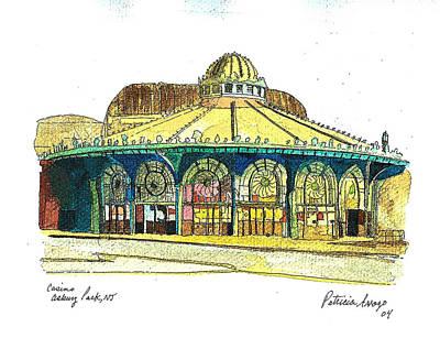 Asbury Park Painting - The Asbury Park Casino by Patricia Arroyo