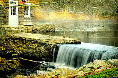 The Aspetuck Grist Mill Print by Diana Angstadt