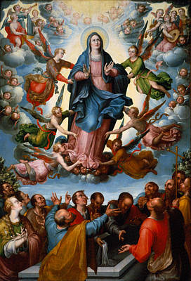 The Assumption Of The Virgin Print by Mountain Dreams