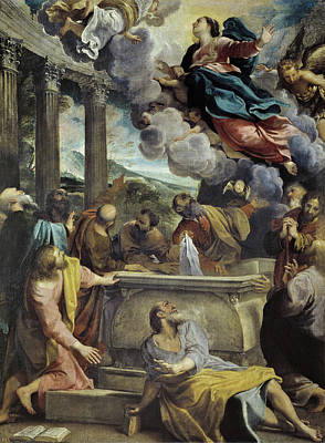 Mary Painting - The Assumption Of The Virgin by Annibale Carracci