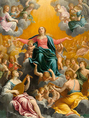 Guido Reni Painting - The Assumption Of The Virgin by Guido Reni