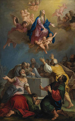 Jacopo Amigoni Painting - The Assumption Of The Virgin by Jacopo Amigoni