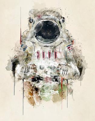 Astronauts Digital Art - The Astronaut by Bri B
