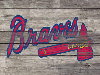 Grapefruit Mixed Media - The Atlanta Braves 3i     by Brian Reaves