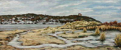 Rumson Painting - the Atlantic Highlands from Sandy Hook by Douglas Keil