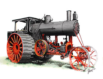 Steam Tractor Painting - The Avery by Ferrel Cordle