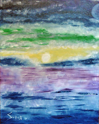 Painting - The Awaking Of The Sun by Suzanne Surber