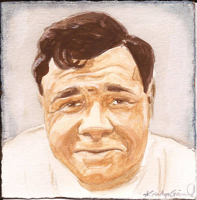 Babe Ruth Painting - The Babe by Kathryn Gainard