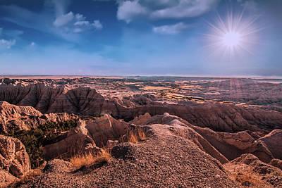 South Dakota Photograph - The Badlands Of South Dakota II by Tom Mc Nemar