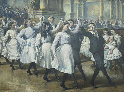 Dance Floor Painting - The Ball by Jean Mayne