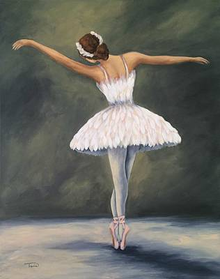 Swan Lake Ballet Painting - The Ballerina V by Torrie Smiley