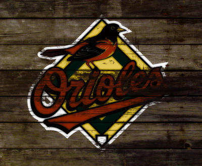 Oriole Mixed Media - The Baltimore Orioles W1                          by Brian Reaves