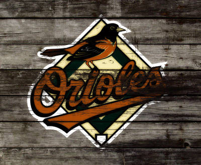 Oriole Mixed Media - The Baltimore Orioles W2                          by Brian Reaves