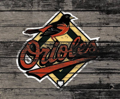 Oriole Mixed Media - The Baltimore Orioles W3                          by Brian Reaves