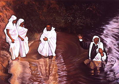 The Baptism Print by Curtis James