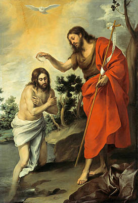 Baptism Of Christ Painting - The Baptism Of Christ by Bartolome Esteban Murillo