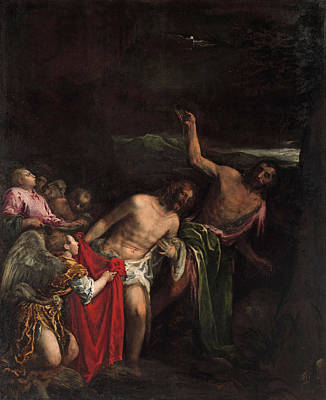 Baptism Of Christ Painting - The Baptism Of Christ by Jacopo Bassano