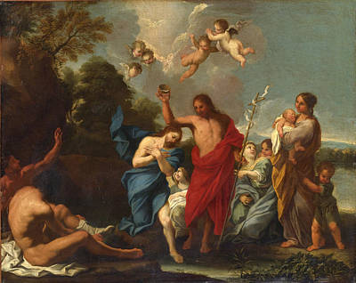 Luigi Garzi Painting - The Baptism Of Christ by Luigi Garzi